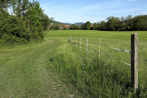 Felder und Wiesen in Deutschland